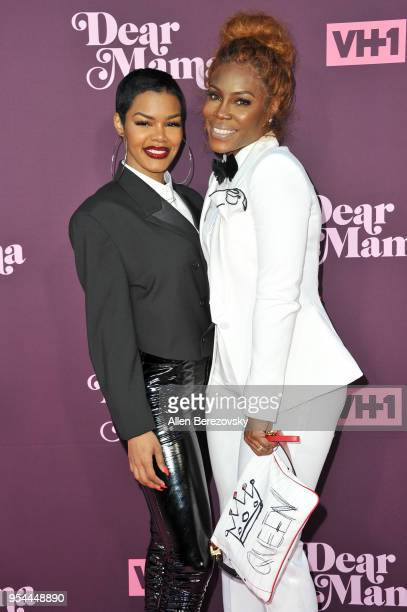 Teyana Taylor and mom Nikki Taylor attend VH1's 3rd Annual 'Dear Mama A Love Letter To Moms' at The Theatre at Ace Hotel on May 3 2018 in Los Angeles...