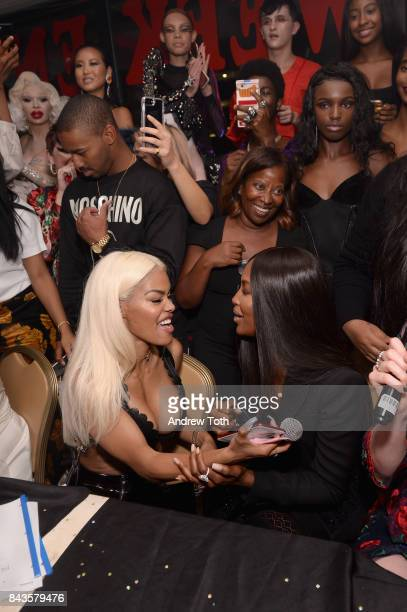 Teyana Taylor and Naomi Campbell attended the PAT McGRATH LABS Mothership Ball September 6 New York City