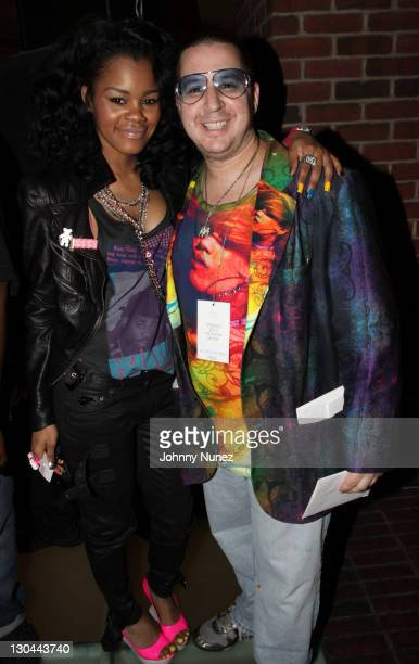Teyana Taylor and Noah G Pop attend Baby Phat KLS Collection Spring 2010 after party during MercedesBenz Fashion Week on September 15 2009 in New...