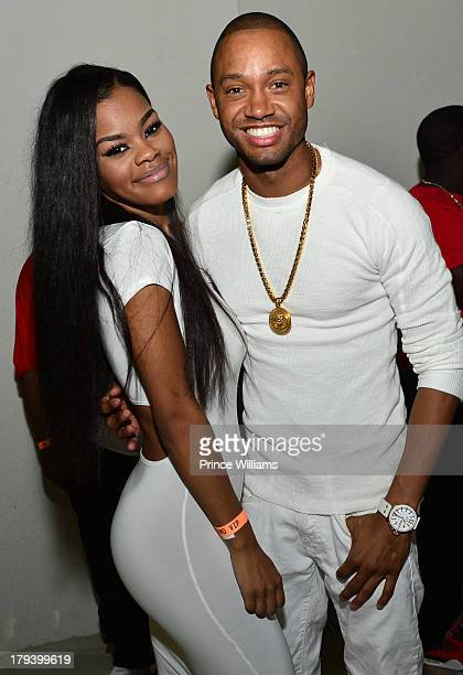 Teyana Taylor and Terrence J attend Ludacris Official Birthday Party at Compound on August 31 2013 in Atlanta Georgia