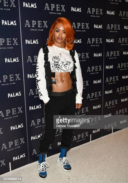 Teyana Taylor arrives at APEX Social Club Aat Palms Casino Resort on August 31 2018 in Las Vegas Nevada