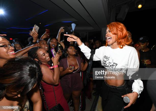 Teyana Taylor attends APEX Social Club Aat Palms Casino Resort on August 31 2018 in Las Vegas Nevada