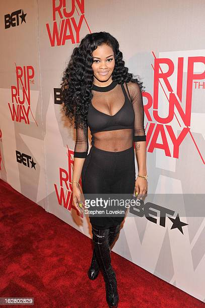 Teyana Taylor attends BET's Rip The Runway 2013Red Carpet at Hammerstein Ballroom on February 27 2013 in New York City