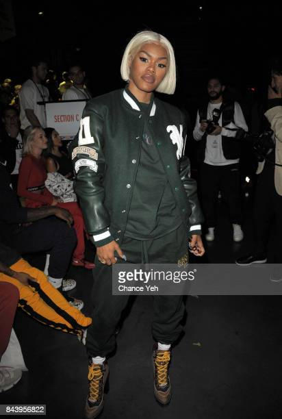 Teyana Taylor attends Kith Sport fashion show during New York Fashion Week at the Classic Car Club on September 7 2017 in New York City