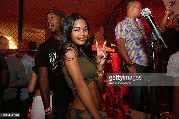Teyana Taylor attends LeBron James 11/11 Experience hosted by Nike on October 27 2013 in Miami Beach Florida