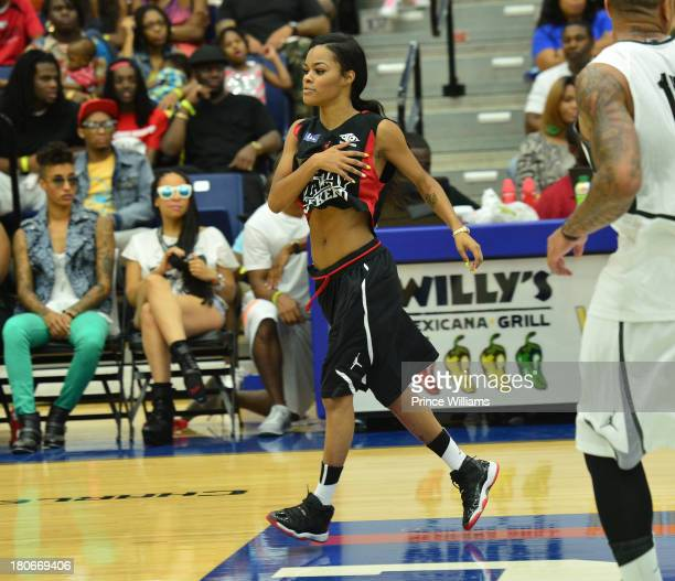 Teyana Taylor attends LudaDay Weekend Celebrity Basketball Game at Georgia State University on September 1 2013 in Atlanta Georgia