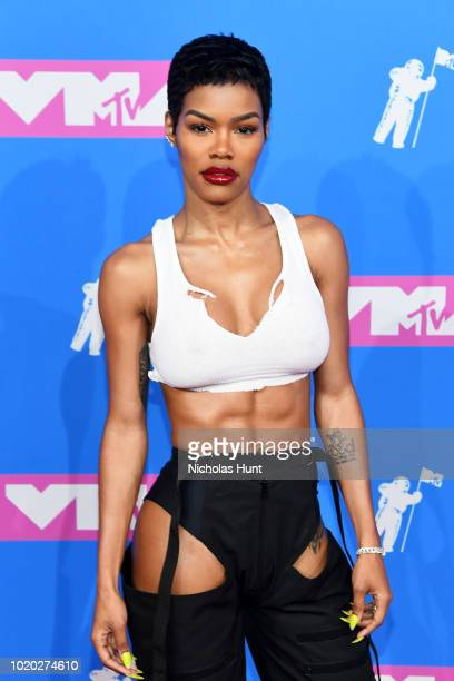 Teyana Taylor attends the 2018 MTV Video Music Awards at Radio City Music Hall on August 20 2018 in New York City