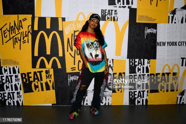 """Teyana Taylor attends the kick off of McDonald's """"Beat Of My City"""" at Pier 36 on September 21, 2019 in New York City."""
