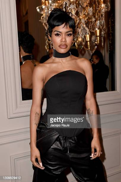 Teyana Taylor attends the Monot show as part of the Paris Fashion Week Womenswear Fall/Winter 2020/2021 on February 29, 2020 in Paris, France.