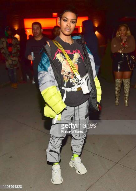 Teyana Taylor attends The Official Big Game Take over Hosted by Diddy+Jeezy+Future at Compound on February 2, 2019 in Atlanta, Georgia.