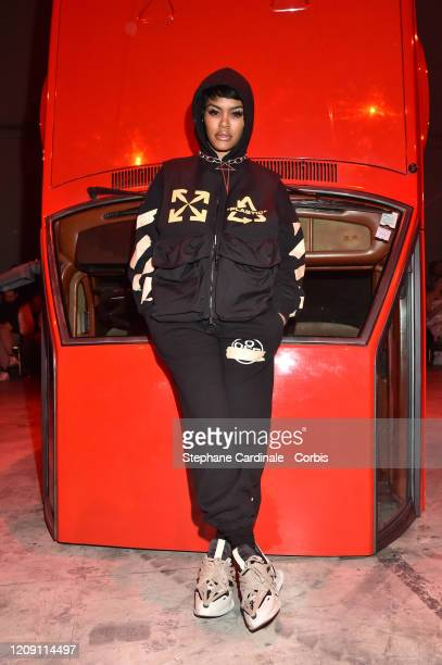 Teyana Taylor attends the Off-White show as part of the Paris Fashion Week Womenswear Fall/Winter 2020/2021 on February 27, 2020 in Paris, France.