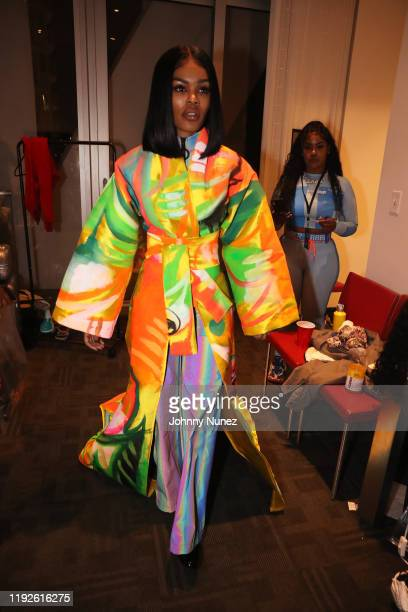 Teyana Taylor backstage at Faena Forum on December 06, 2019 in Miami Beach, Florida.