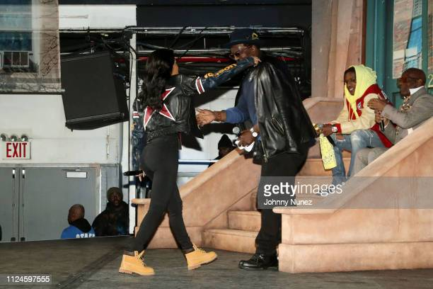 Teyana Taylor Fab 5 Freddy A$AP Rocky and Dapper Dan appear onstage at Stoop Talks with A$AP Rocky Dapper Dan at Terminal 5 on February 12 2019 in...