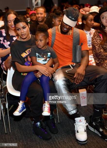 Teyana Taylor Iman Shumpert and Iman Tayla Shumpert Jr attend You Be There Screening at The Gathering Spot on August 11 2019 in Atlanta Georgia