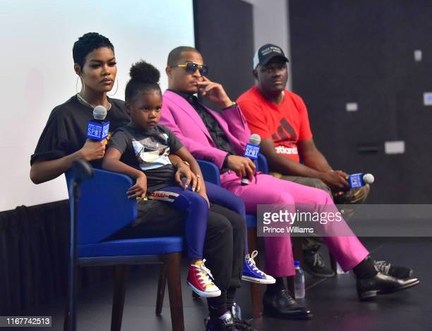Teyana Taylor Iman Tayla Shumpert Jr TI and Greg Street attend You Be There Screening at The Gathering Spot on August 11 2019 in Atlanta Georgia