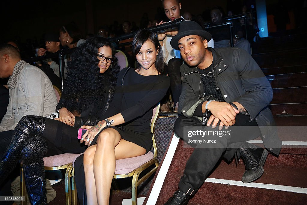 Teyana Taylor, Karrueche Tran, and Byron Edwards attend BET's Rip The Runway 2013 at Hammerstein Ballroom on February 27, 2013, in New York City.
