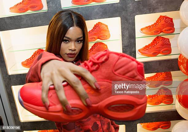 Teyana Taylor launches her Reebok Question Mid Teyana T Sneaker at Villa on October 6 2016 in Chicago Illinois