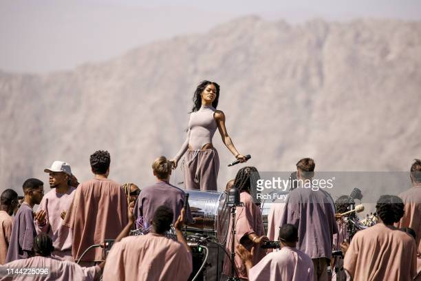 Teyana Taylor performs at Sunday Service during the 2019 Coachella Valley Music And Arts Festival on April 21 2019 in Indio California