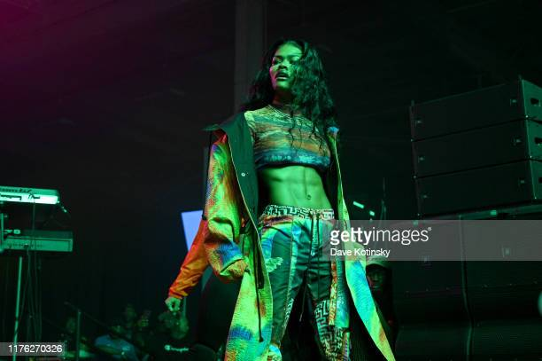 """Teyana Taylor performs at the kick off of McDonald's """"Beat Of My City"""" at Pier 36 on September 21, 2019 in New York City."""