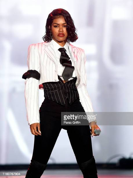 Teyana Taylor performs in concert during 2019 ESSENCE Festival at Louisiana Superdome on July 07, 2019 in New Orleans, Louisiana.