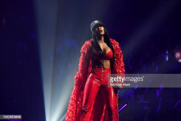 Teyana Taylor performs onstage during the 4th Annual TIDAL X: Brooklyn at Barclays Center of Brooklyn on October 23, 2018 in New York City.