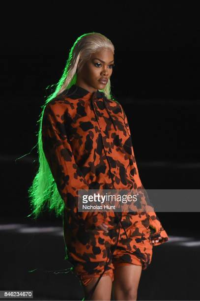 Teyana Taylor rehearses for The Blonds fashion show during New York Fashion Week The Shows at Gallery 1 Skylight Clarkson Sq on September 12 2017 in...
