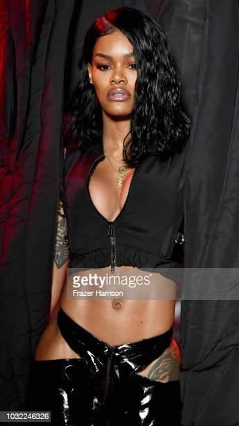Teyana Taylor walks the runway for Namilia during New York Fashion Week The Shows at Gallery II at Spring Studios on September 11 2018 in New York...