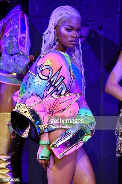 Teyana Taylor walks the runway for The Blonds fashion show during New York Fashion Week The Shows at Gallery 1 Skylight Clarkson Sq on September 12...
