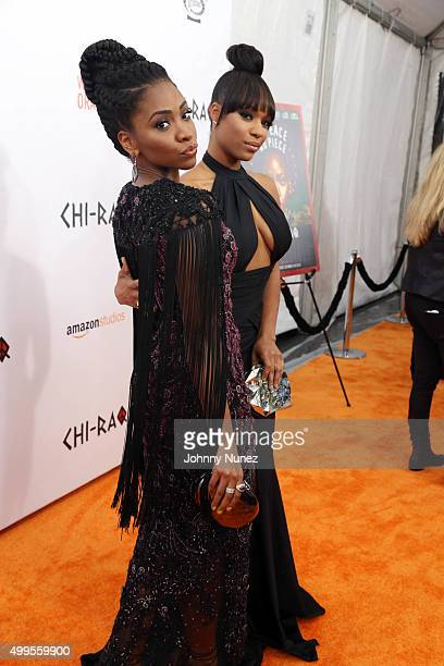 Teyonah Parris and Michelle Mitchenor attend the 'CHIRAQ' New York Premiere at Ziegfeld Theater on December 1 in New York City