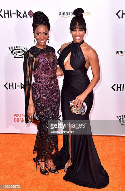 Teyonah Parris and Michelle Mitchenor attend the 'CHIRAQ' New York premiere at the Ziegfeld Theater on December 1 2015 in New York City