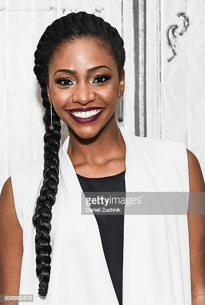 Teyonah Parris attends AOL Build to discuss her new film 'ChiRaq' at AOL Studios on January 26 2016 in New York City
