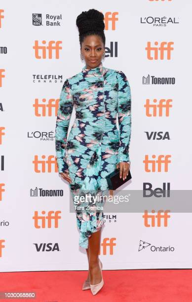 Teyonah Parris attends the 2018 Toronto International Film Festival premiere of 'If Beale Street Could Talk' at Princess of Wales Theatre on...