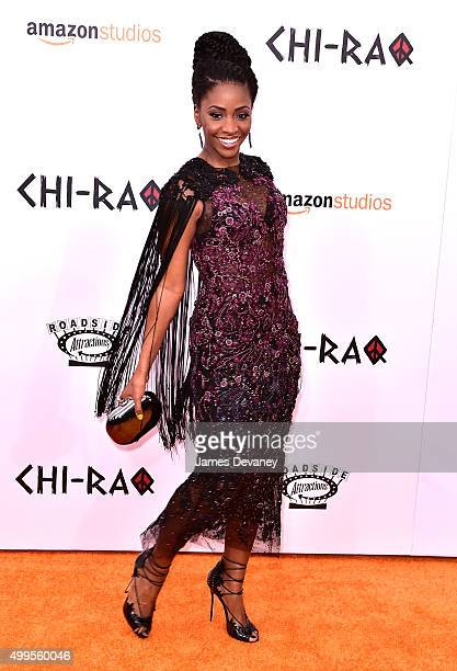 Teyonah Parris attends the 'CHIRAQ' New York premiere at the Ziegfeld Theater on December 1 2015 in New York City