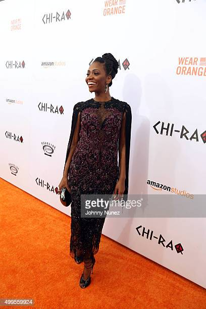 Teyonah Parris attends the 'CHIRAQ' New York Premiere at Ziegfeld Theater on December 1 in New York City