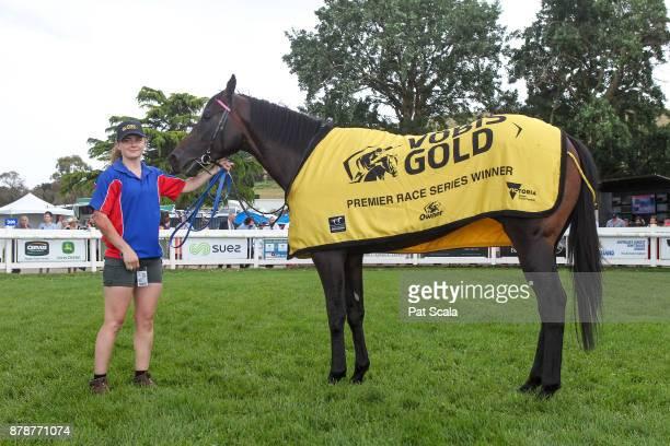 Tezlah after winning Hertz Ballarat VOBIS Gold Eureka Stockadeat SportsbetBallarat Racecourse on November 25 2017 in Ballarat Australia