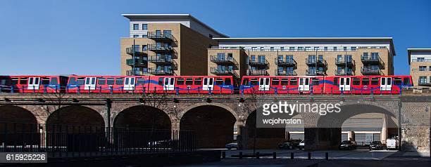 TfL DLR Train on a viaduct