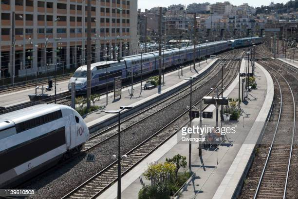 TGVs at Nice-Ville railway station