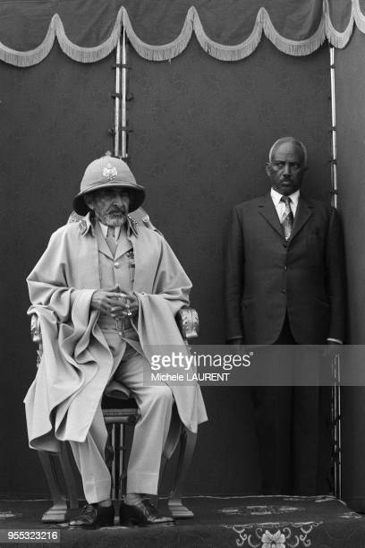 78 th anniversary of the Battle of Adoua attended by Emperor Haile Selassie surrounded by several former Prime Ministers and dignitaries of the Copt...