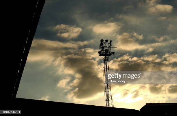 Th sun sets behind the stadium during the Sky Bet Championship match between Luton Town and Sheffield Wednesday at Kenilworth Road on February 27,...