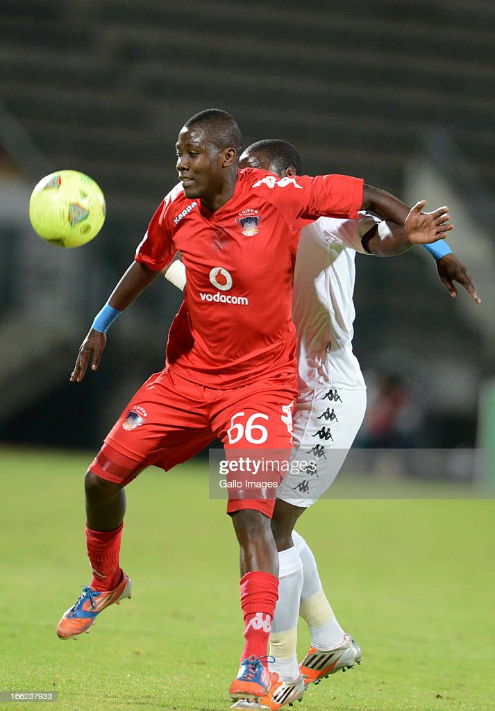 Thabiso Nkoana and Keamogetse Wolff during the Absa Premiership match between SuperSport United and Chippa United from Lucas Moripe Stadium on April 10, 2013 in Pretoria, South Africa Photo by Lefty Shivambu/Gallo Images