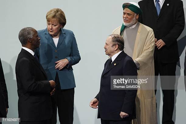 Thabo Mbeki president of South Africa Angela Merkel Federal Chancelor of Germany Algerian president Abdelaziz Bouteflika and Comorian president Ahmed...