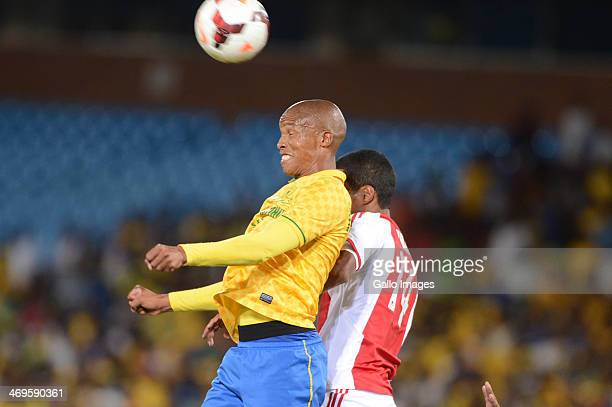 Thabo Nthethe of Mamelodi Sundowns and Tashreeq Losper of Ajax Cape Town during the Absa Premiership match between Mamelodi Sundowns and Ajax Cape...