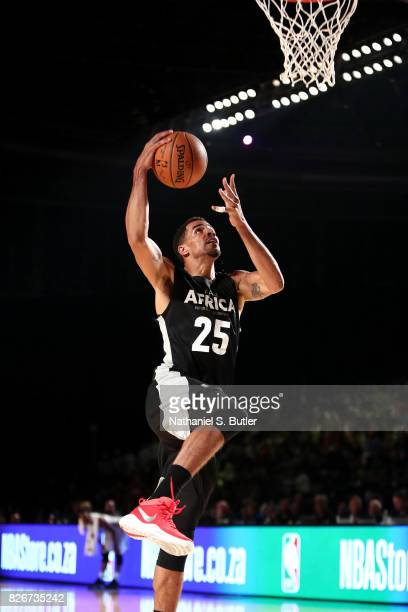 Thabo Sefolosha of Team Africa shoots a lay up against Team World in the 2017 Africa Game as part of the Basketball Without Borders Africa at the...
