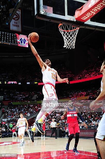 Thabo Sefolosha of the Atlanta Hawks shoots the ball against the Washington Wizards on October 27 2016 at Philips Arena in Atlanta Georgia NOTE TO...