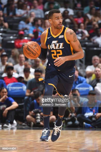 Thabo Sefolosha of the Utah Jazz handles the ball against the LA Clippers on October 24 2017 at STAPLES Center in Los Angeles California NOTE TO USER...