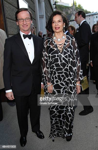 Thaddaeus Ropac and Bianca Jagger attends the opening of the easter festival 2014 on April 12 2014 in Salzburg Austria