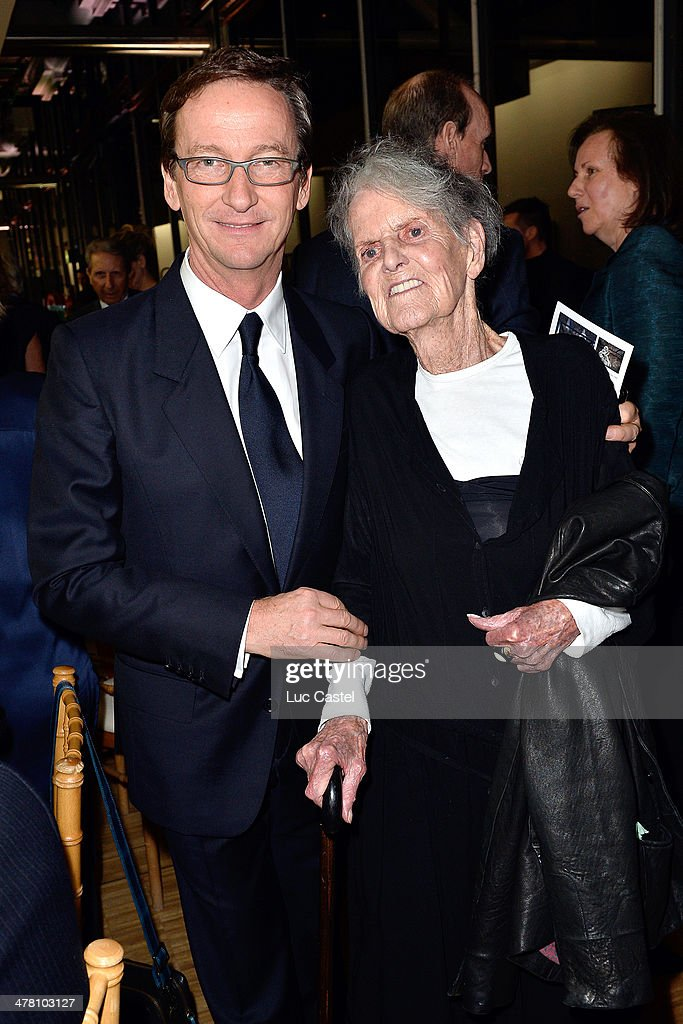 Thaddaeus Ropac and Elaine Sturtevant attend the 'Societe des amis du Musee D'Art Moderne' : Annual Dinner. Held at Centre Pompidou on March 11, 2014 in Paris, France.