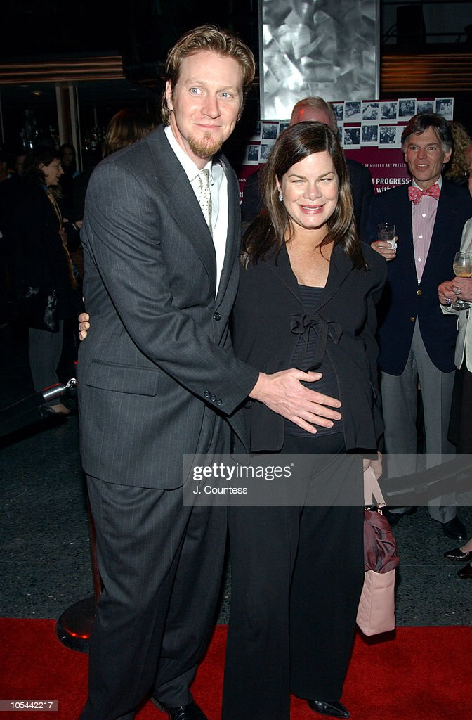 Thaddaeus Scheel and Marcia Gay Harden during A Work in Progress : An Evening with Sofia Coppola - After Party at Metronome in New York City, New York, United States.