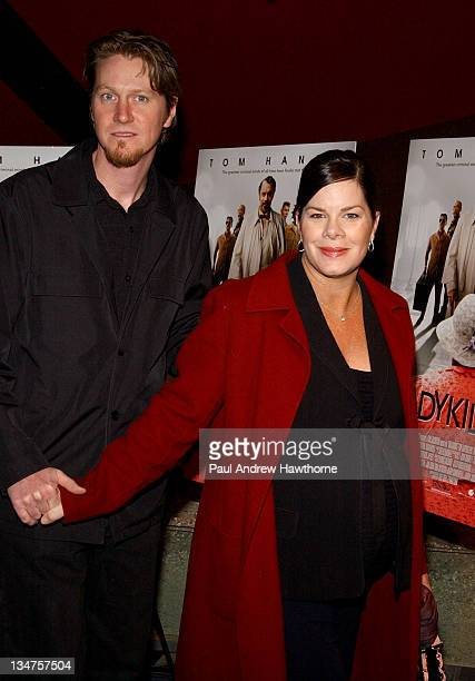 Thaddaeus Scheel and Marcia Gay Harden during 'The Ladykillers' Special Screening New York at Landmark's Sunshine Cinema in New York City New York...