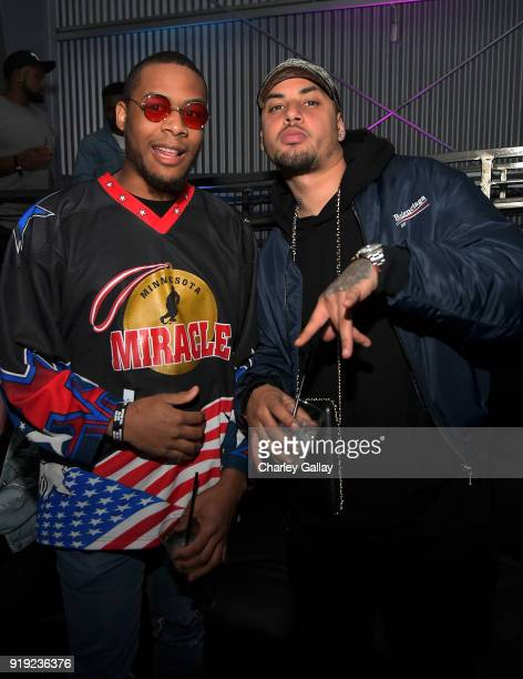 Thaddeus and Amir Obe attend Def Jam Celebrates NBA All Star Weekend at Milk Studios in Hollywood With Performances by 2 Chainz Fabolous Jadakiss...